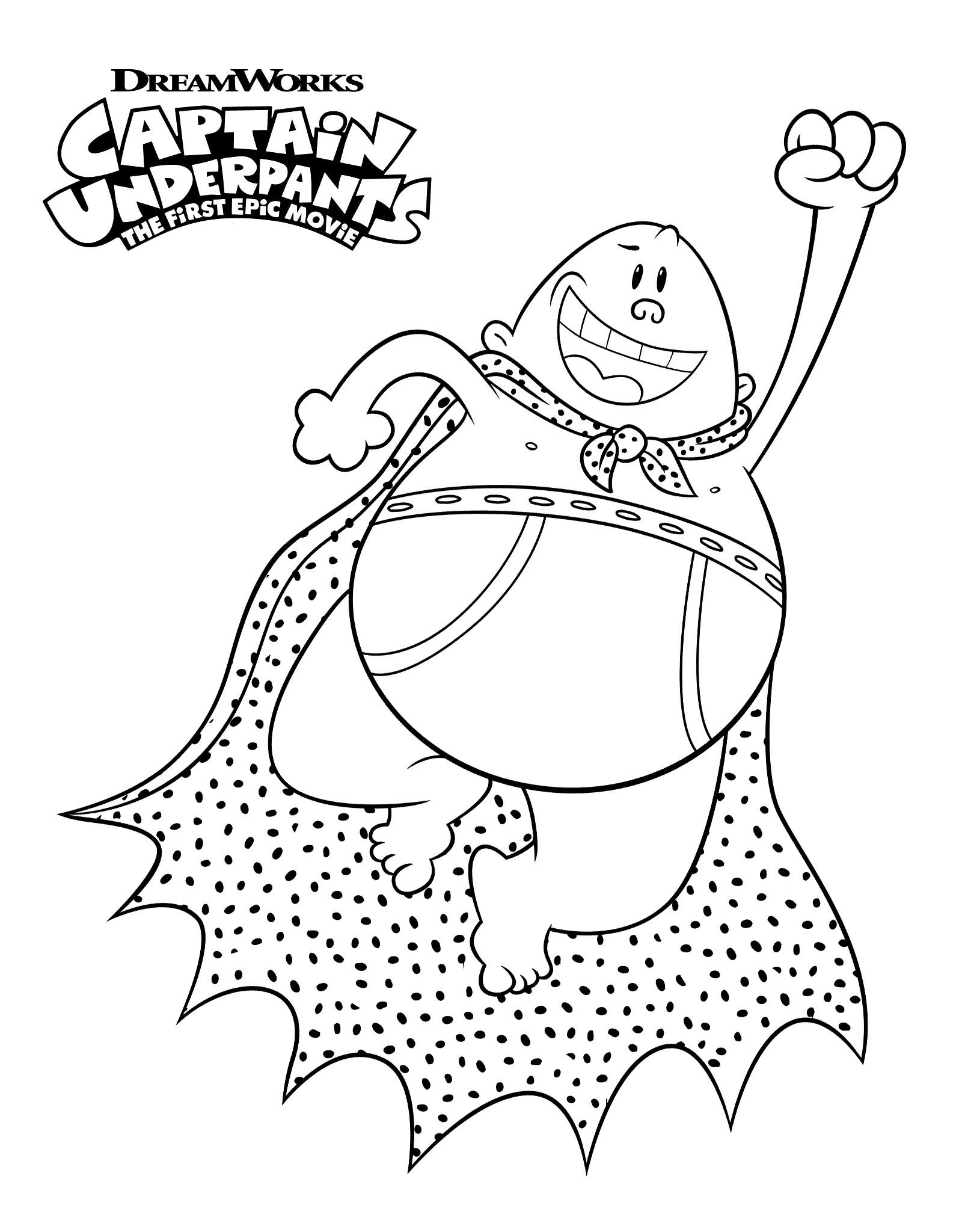 1600x2048 Luxury Captain Underpants Coloring Pages Advance