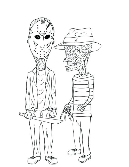 500x647 Beavis And Butthead Coloring Pages And Coloring Sheets Page Pages