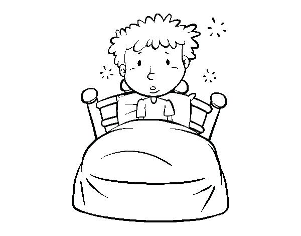 600x470 Bed Coloring Page Boy In Bed Coloring Page Bed Coloring Pages