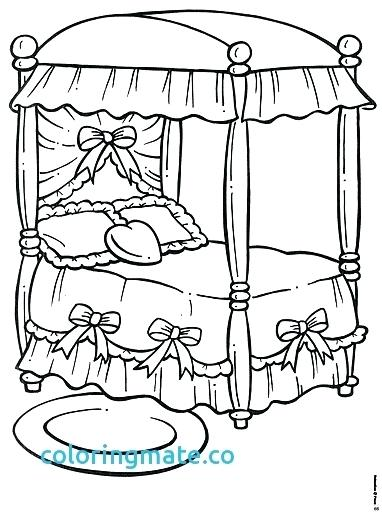 382x512 Bed Coloring Pages Bed Coloring Page Awesome Coloring Pages