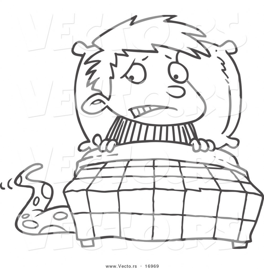 1004x1024 Creative Boy In Bed Coloring Page Pages Theres An Alligator Under