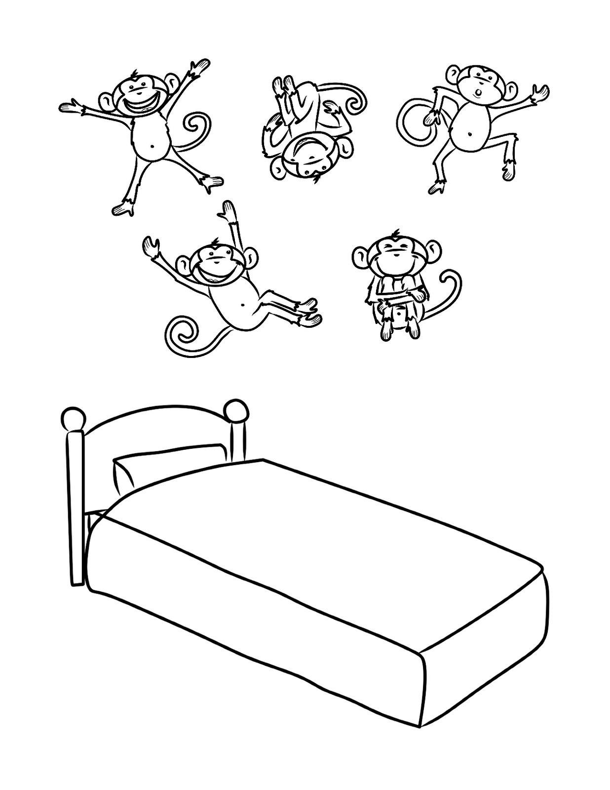 1236x1600 Bed Coloring Page Objects Printable Pages Inside