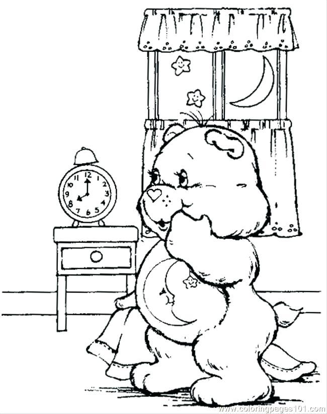 650x822 Bed Coloring Page Bed Coloring Page Bed Time Care Bear Coloring