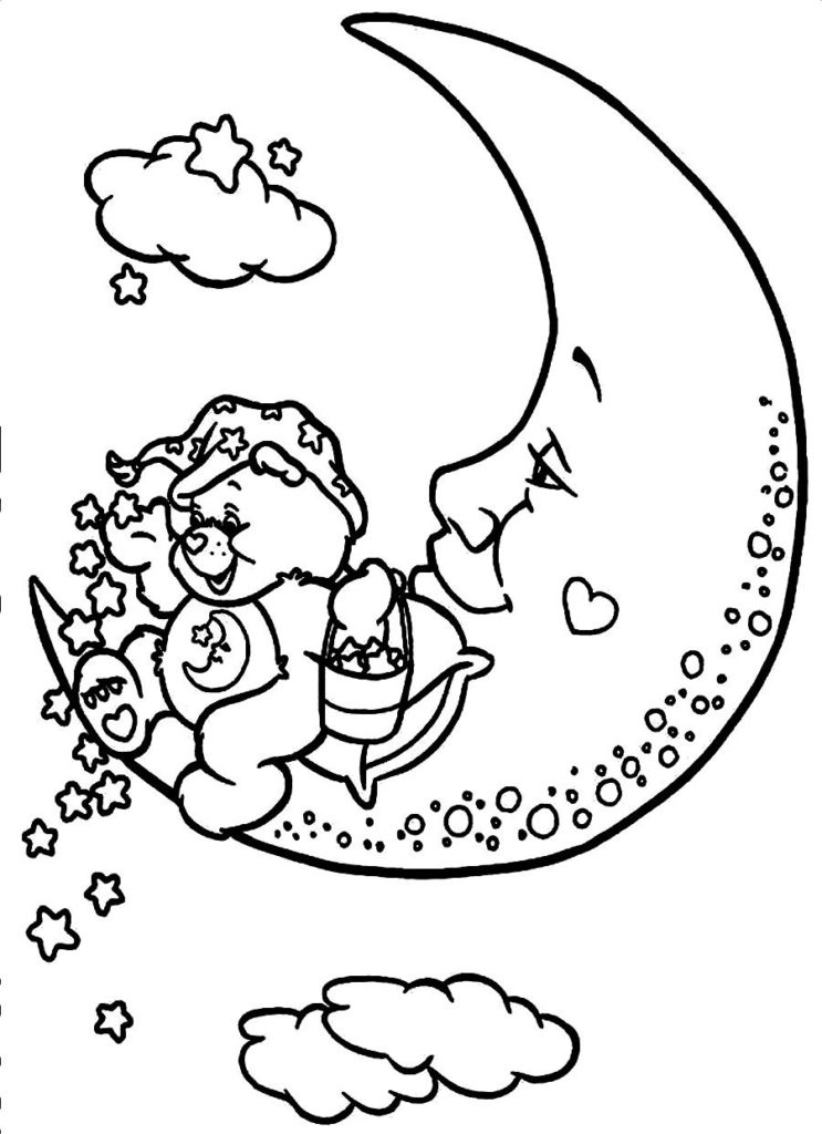 743x1024 Bedtime Coloring Pages