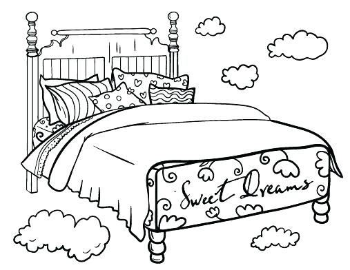 507x392 Bedtime Coloring Pages Bed Coloring Pages Printable Bed Coloring