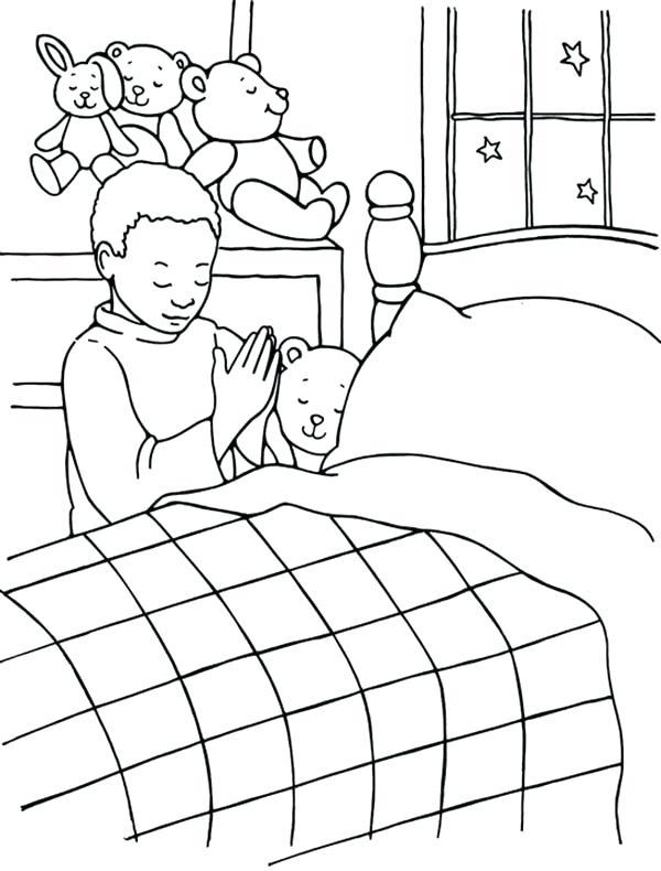 600x790 Bedtime Coloring Pages Unsurpassed Bedtime Coloring Pages A Boy