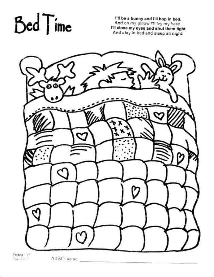 700x906 Bedtime Coloring Pages Bedtime Coloring Colouring
