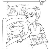 200x200 Bedtime Coloring Pages Surfnetkids