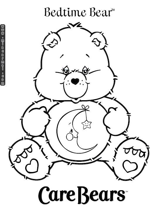 540x720 Care Bears Coloring Pages Bedtime Bear Carebears