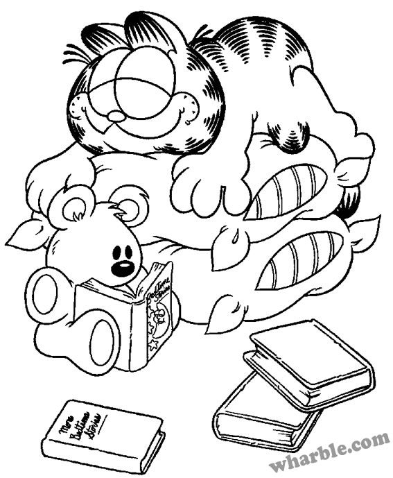 567x689 Garfield And Pooky Coloring Page Coloring For The Kids