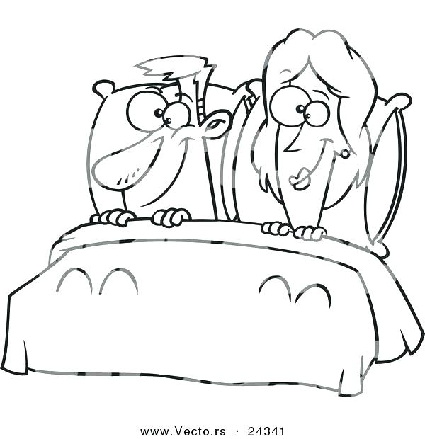 600x620 Bed Coloring Page Sick The Pooh In Bed Coloring Page Bedtime