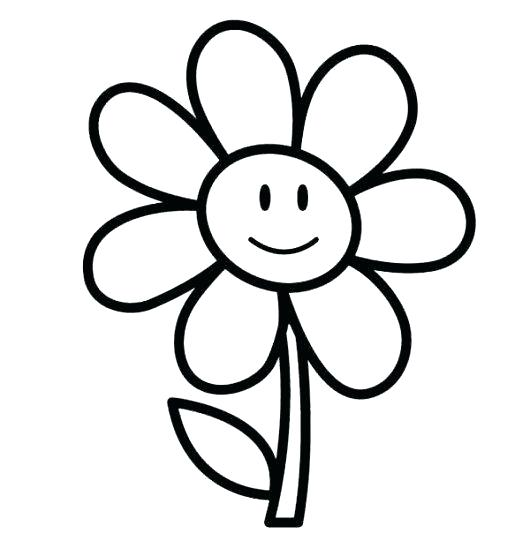 530x541 Bee With Flowers Color Page Coloring Pages For Kids Also Coloring