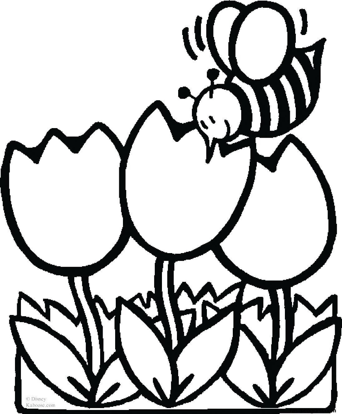 1096x1325 Flower Coloring Pages Animal Print Out Pictures Incredible Bee