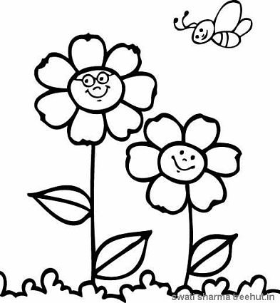 393x425 Flowers Coloring Pages
