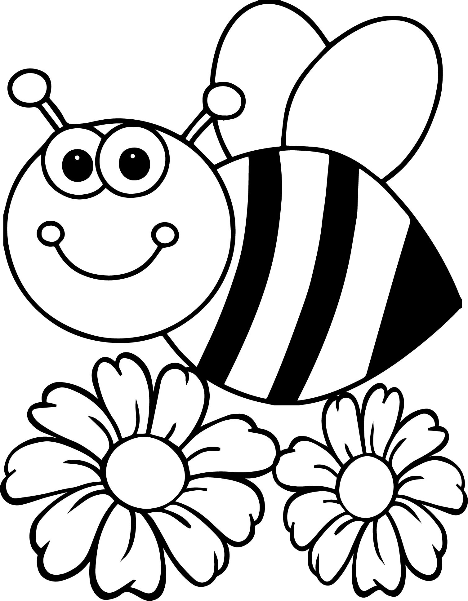 1509x1939 Maya The Bee On Flower Coloring Pages For Kids Best Of Bee Flower