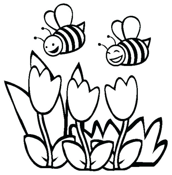 600x612 Spring Printable Coloring Pages Flower Coloring Pages To Print
