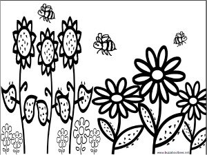 300x225 Bee Coloring Pages, Educational Activity Sheets And Puzzles Free
