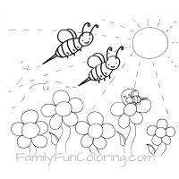 200x200 Bee Coloring Pages
