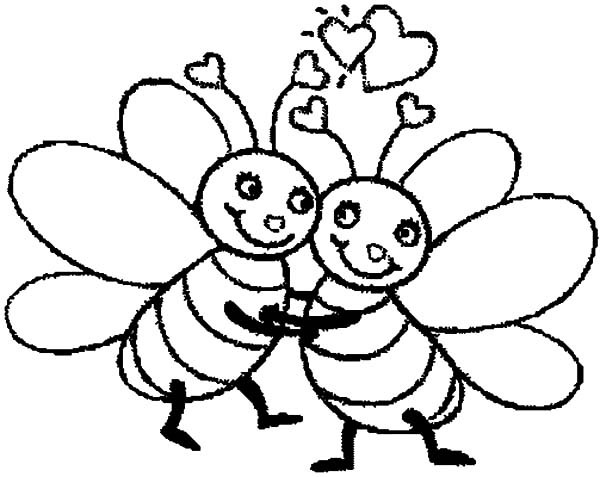600x477 Bumble Bee Hugging Tight Coloring Pages Best Place To Color