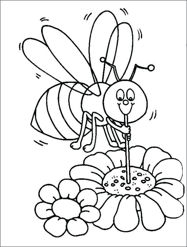 600x790 Bee Coloring Pages Bee Coloring Pages In Addition To Beehive