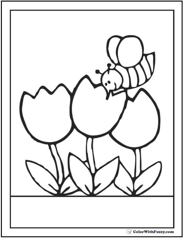 590x762 Bee Coloring Pages Hives, Flowers, And Honey