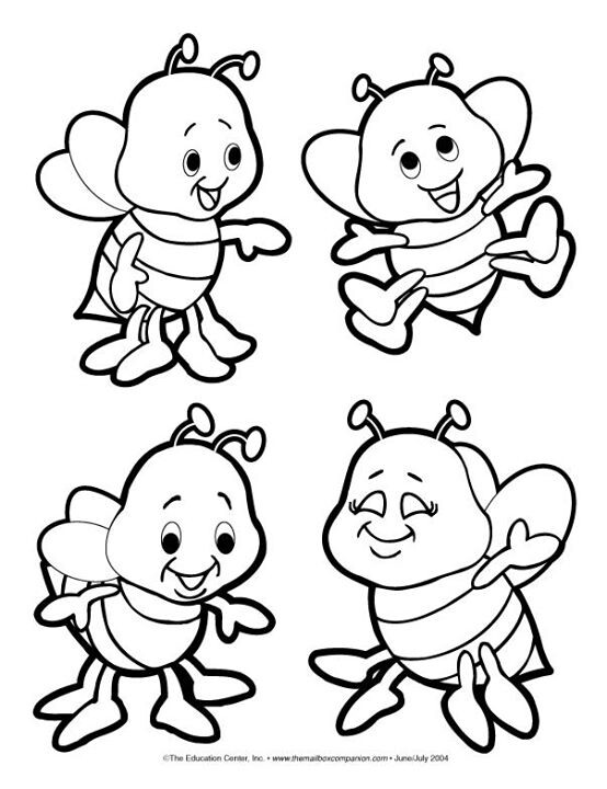 554x720 Bees Coloring Page Printablesgraphics Bees