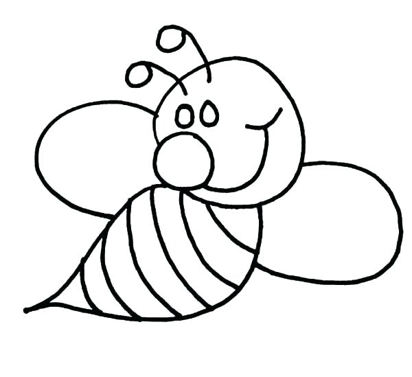 600x549 Incredible Printable Bumble Bee Coloring Page And Pages Animals