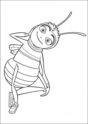 300x420 Bee Movie Coloring Page Bee Coloring Book Bee
