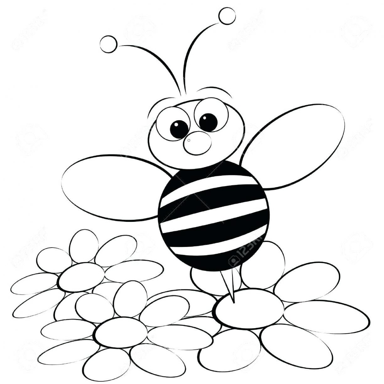 1224x1224 Drawing Coloring Page In For Kids With Pages Maya Bee Movie