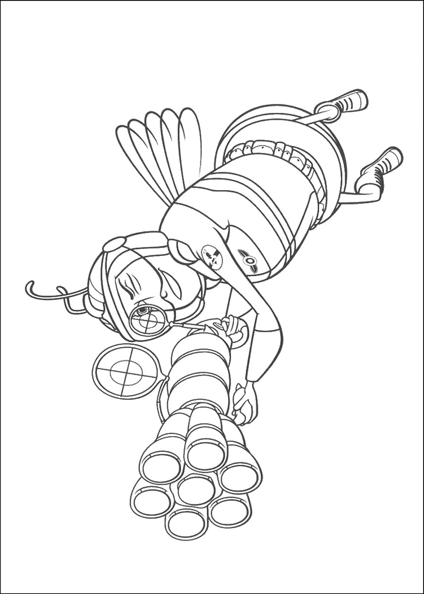 857x1200 Bee Movie Coloring Pages