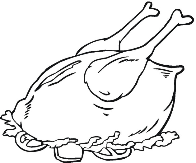 630x524 Meat Chicken Coloring Pages