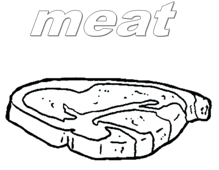713x555 Meat Coloring Pages Food Meat Coloring Pages For Meat Eating