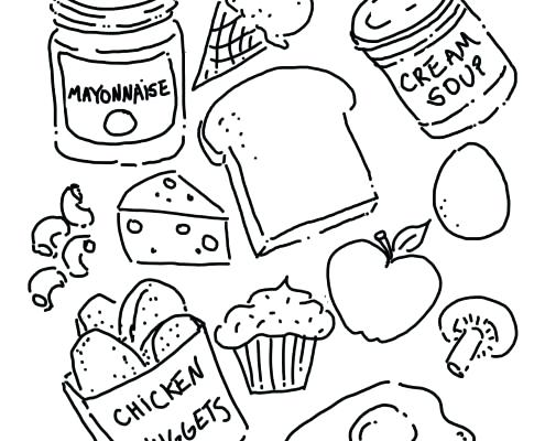 495x400 Meat Coloring Pages Roast Printable Meat Coloring Pages