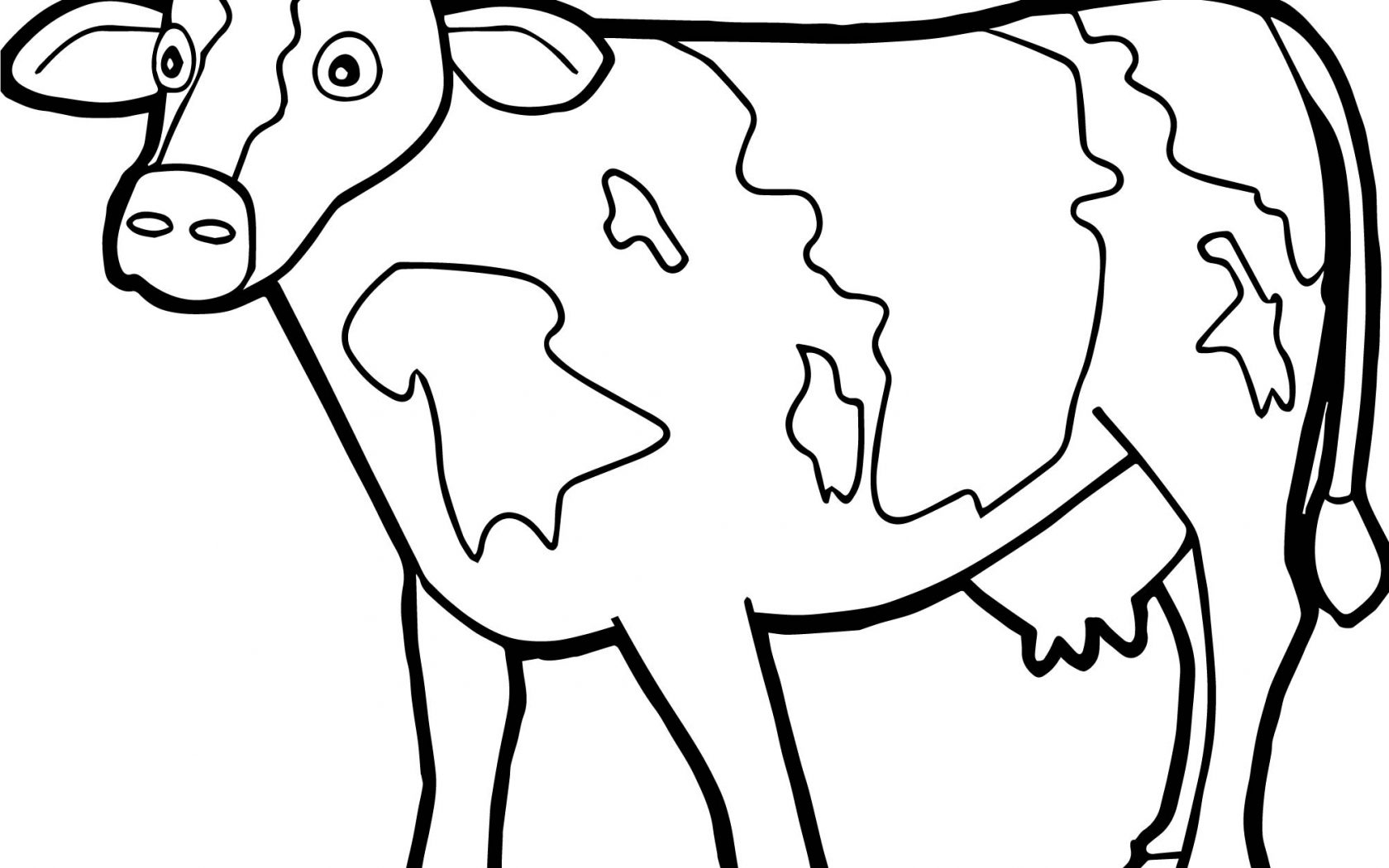 1680x1050 Printable Cattle Or Cow Coloring Pages Best Of Creativemove Is