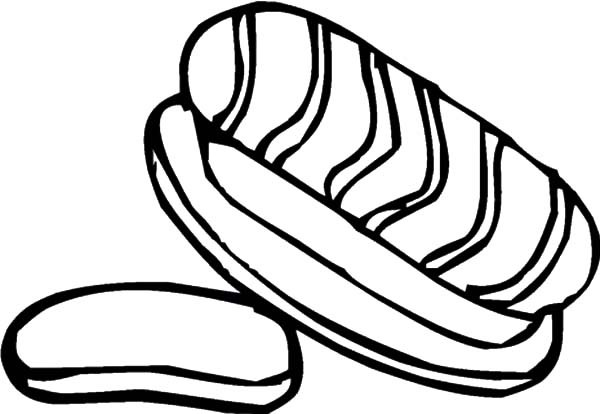 600x414 Bread With Meat Coloring Pages Best Place To Color