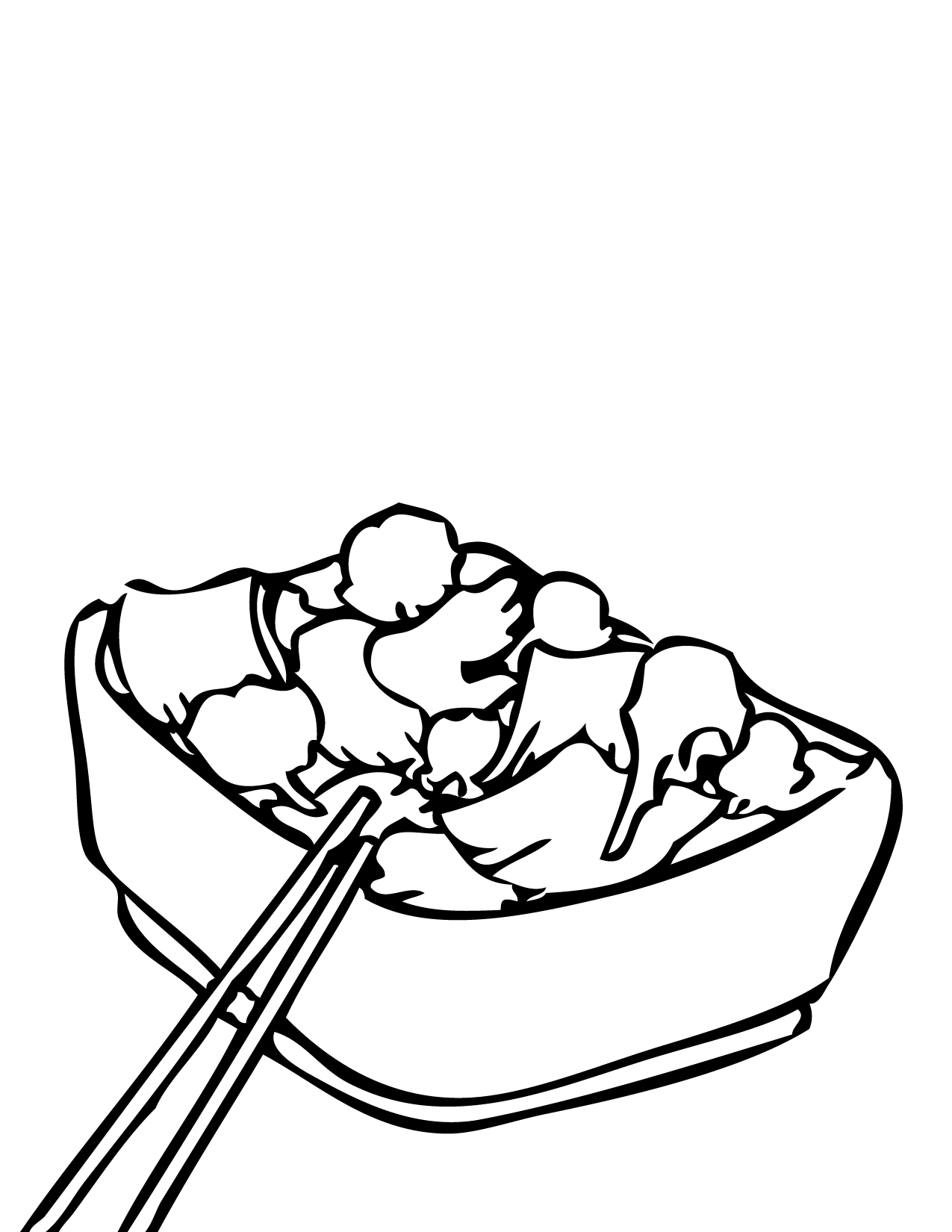 1275x1650 Broccoli Beef Coloring Page