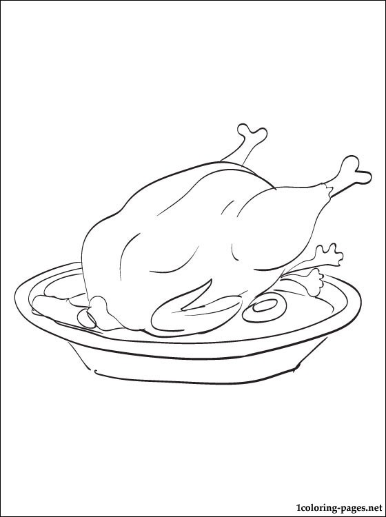 560x750 Chicken Meat Coloring Page Coloring Pages