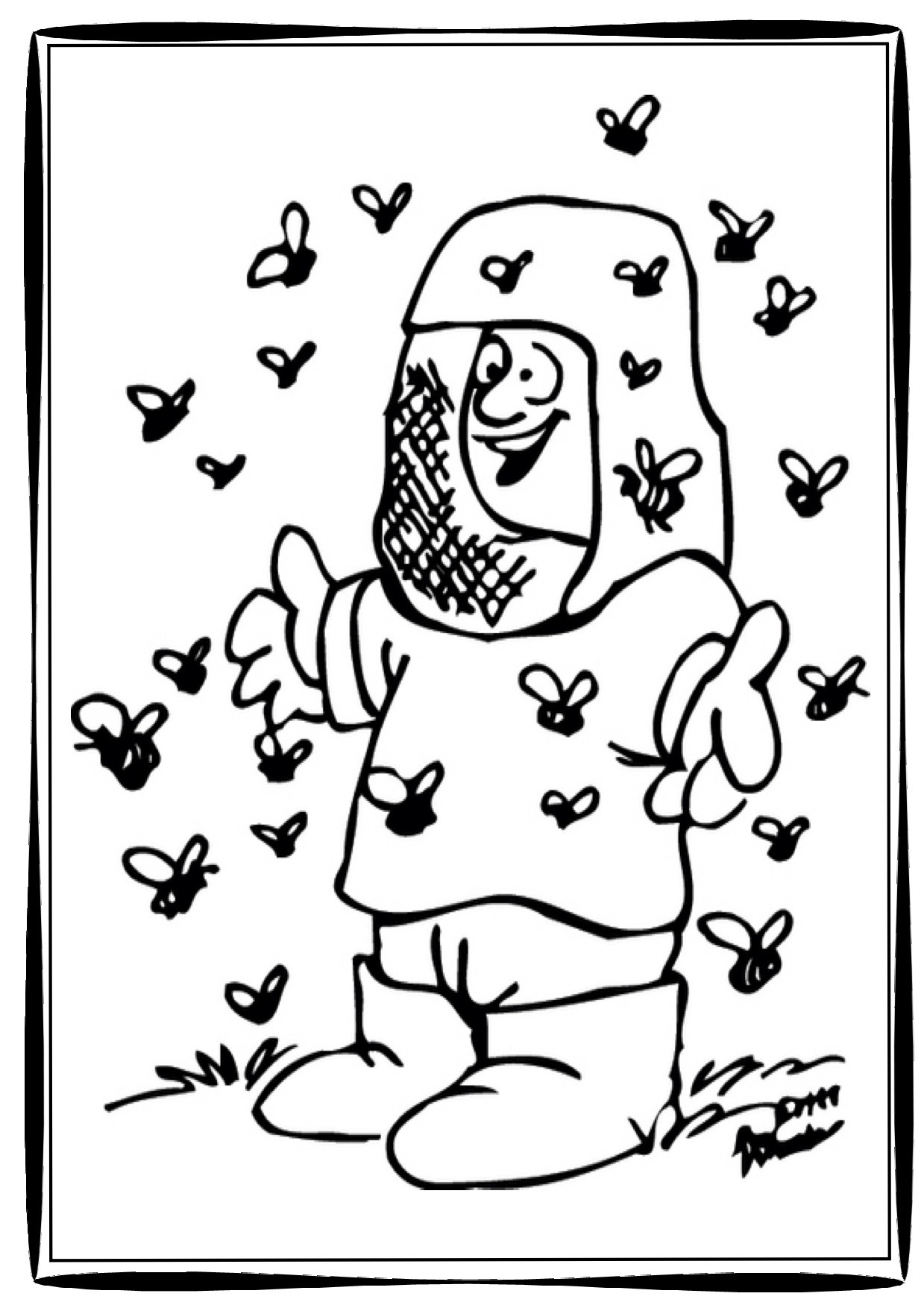 1239x1754 Beehive Coloring Page Thebarnyard
