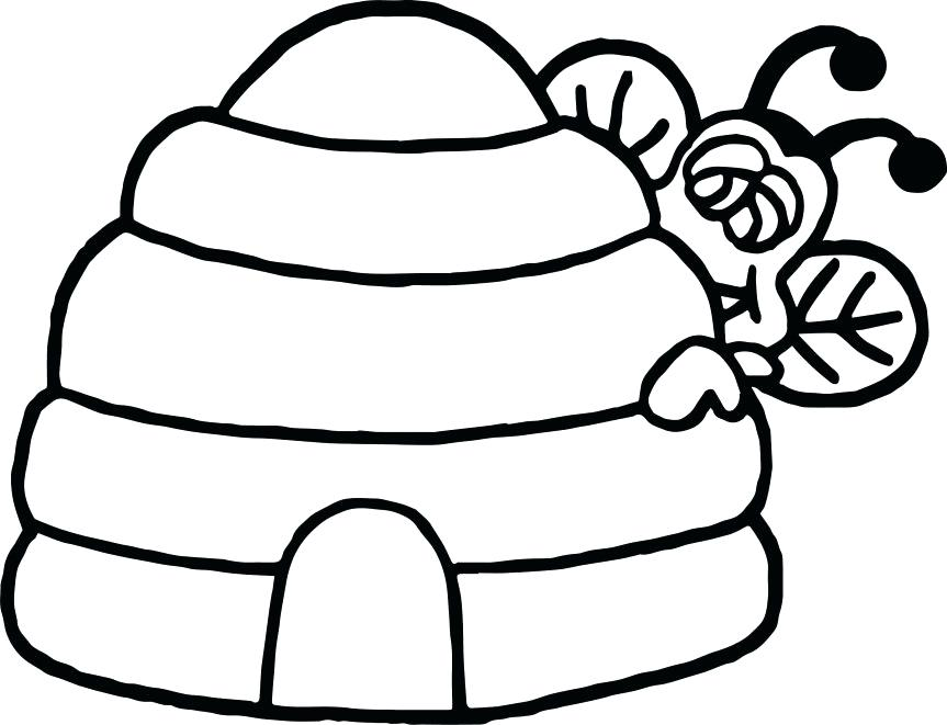 863x661 Beehive Coloring Page Bee Coloring Pages Together With Bee