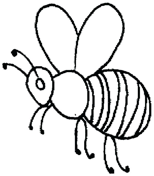 600x683 Beehive Coloring Page Honey Bee Coloring Page Honey Bee Outline
