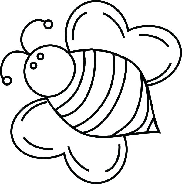 600x606 Beehive Coloring Page Picture Of A Bee To Color Fat Bumble Bee