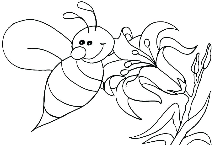 900x607 Beehive Coloring Page