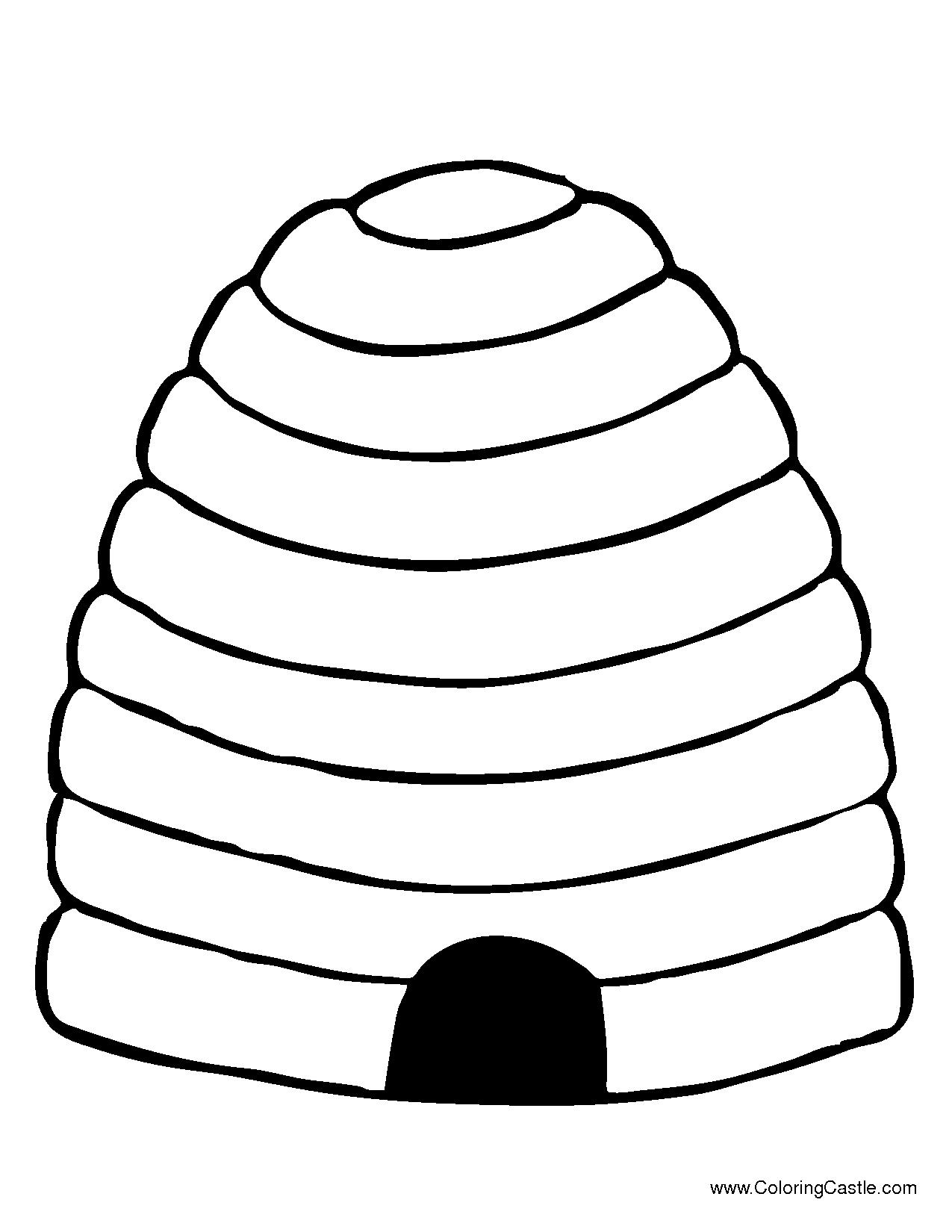 1275x1650 Beehive Coloring Pages
