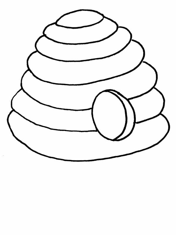 600x800 Beehive From The Jungle Coloring Page