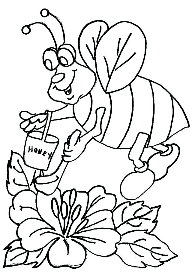 640x924 Honey Beehive Coloring Page Honeybee Pages Library Bee