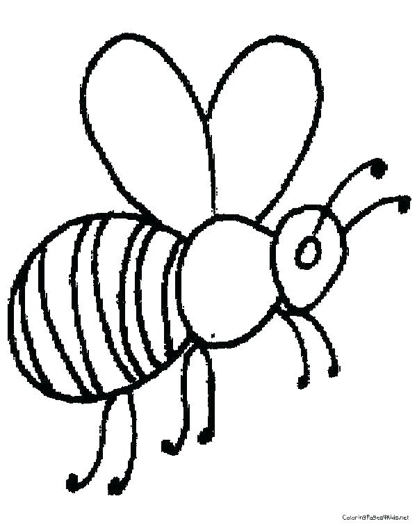 600x756 Bee Coloring Sheet Honey Bee Colouring Sheet Bee Coloring Pictures