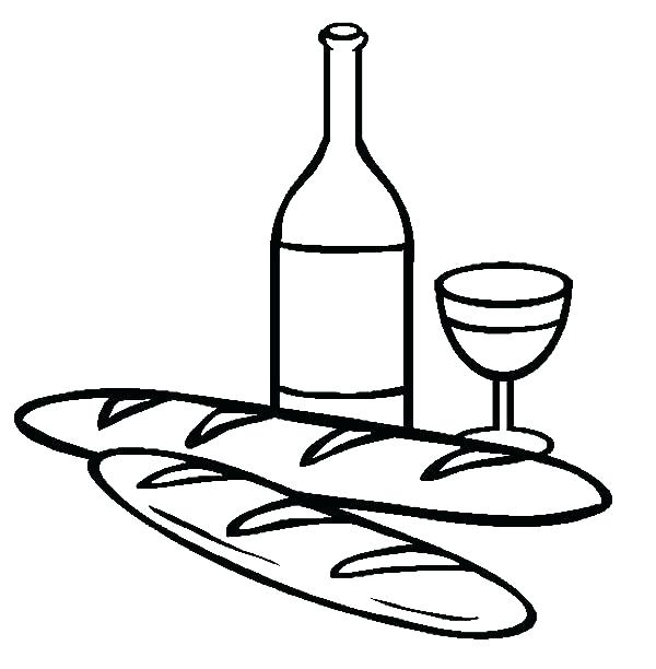 600x612 Wine Bottle Coloring Pages Bottle Colouring Free Pages Bottle