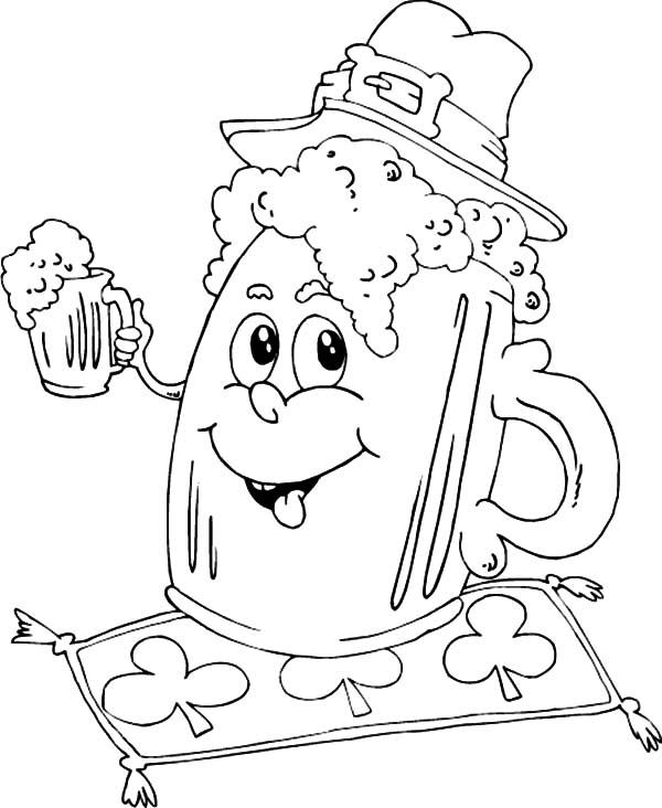 600x732 Beer, Irish Mug Beer Coloring Pages Irish Mug Beer Coloring