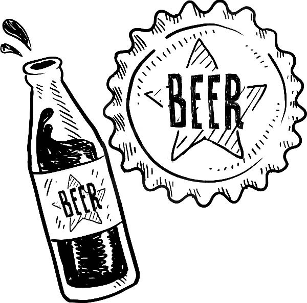 600x594 Delicious Beer Coloring Pages Best Place To Color