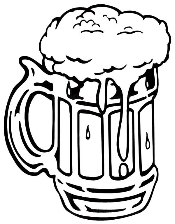 600x769 Foaming Beer Mug Coloring Pages Gifts